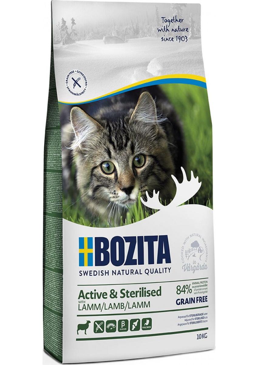 Сухой корм Bozita Active #and# Sterilized Grain free Lamb для активных кошек 10 кг, Ягненок
