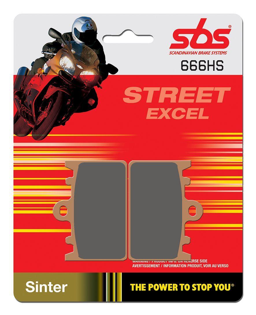 Тормозные колодки передние SBS 666HS для мотоциклов