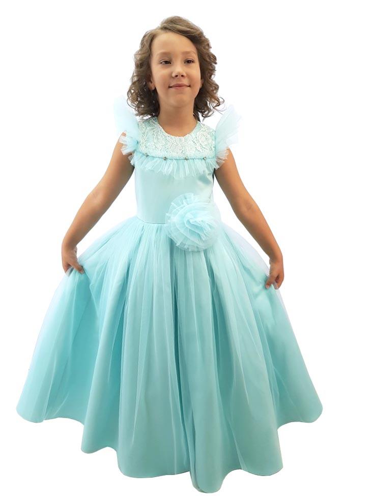 Платье нарядное Minavla Рошель мята, размер 128 фото