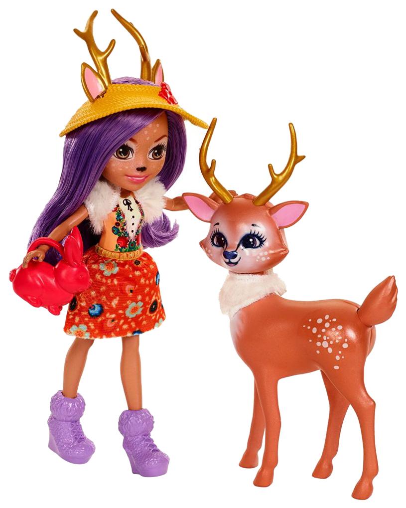 Купить Игровой набор Mattel FDG01 Enchantimals Волшебный сад из двух кукол с любимыми зверюшками, Куклы
