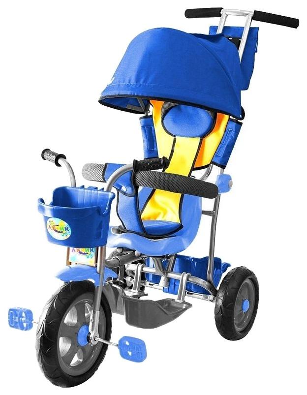 Велосипед трехколесный Galaxy Лучик с капюшоном синий