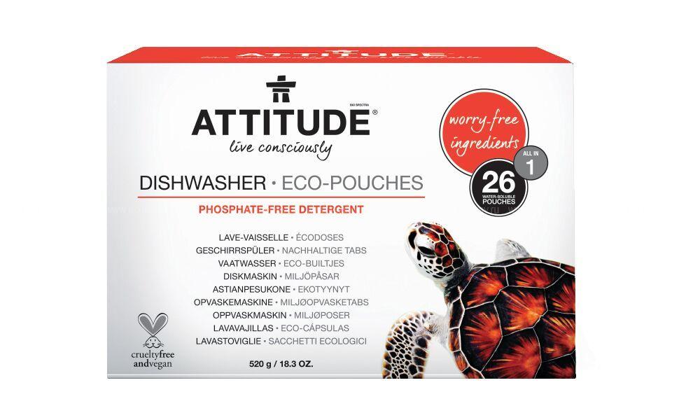 Таблетки для посудомоечных машин Attitude all