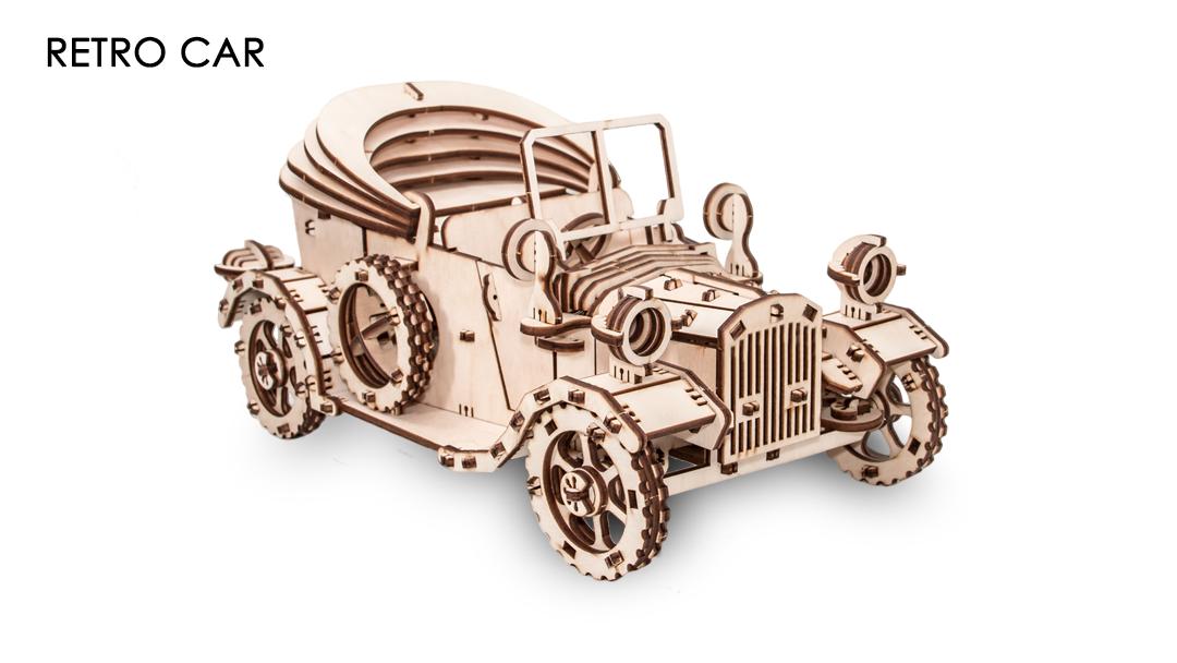 Конструктор Eco Wood Art 3D Retro Car (Форд Т) из дерева