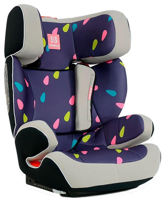 Автокресло детское Farfello K70 Капельки Grey+Colorful