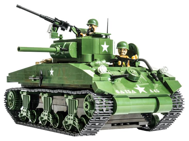 Конструктор пластиковый COBI Танк М4A1 Sherman (Шерман) Танк М4A1 Sherman (Шерман)