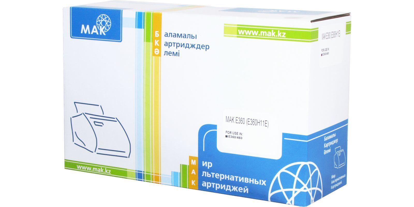 Картридж лазерный MAK© E360 (E360H11E) black 9000 стр (восстановленный) для Lexmark, Optra E360, E360d, E360dn, E460, E460dn, E460dw  - купить со скидкой