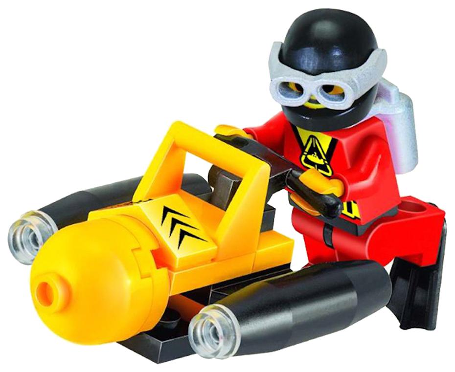 Конструктор пластиковый Brick Подводный скутер, 25 дет.