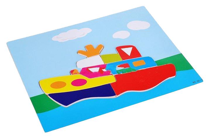Купить Пазлы Wooden Toys Кораблик деревянный 14 элементов