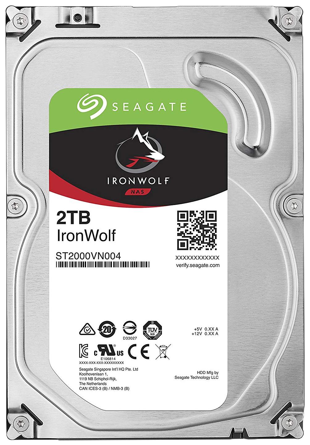 Внутренний жесткий диск Seagate IronWolf ST2000VN004