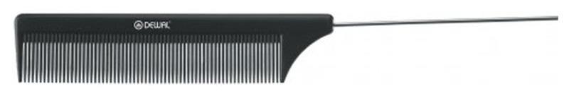 Купить Расческа Dewal С металлическим хвостиком 20, 5 см Черный