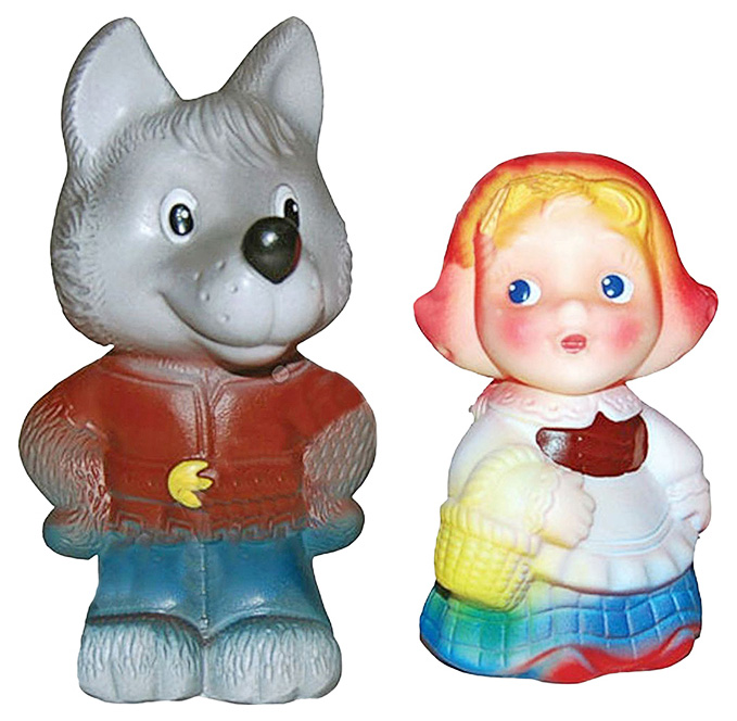 Купить Куклы и куколки, Игрушка для купания Огонек Красная шапочка и волк, Игрушки для купания малыша