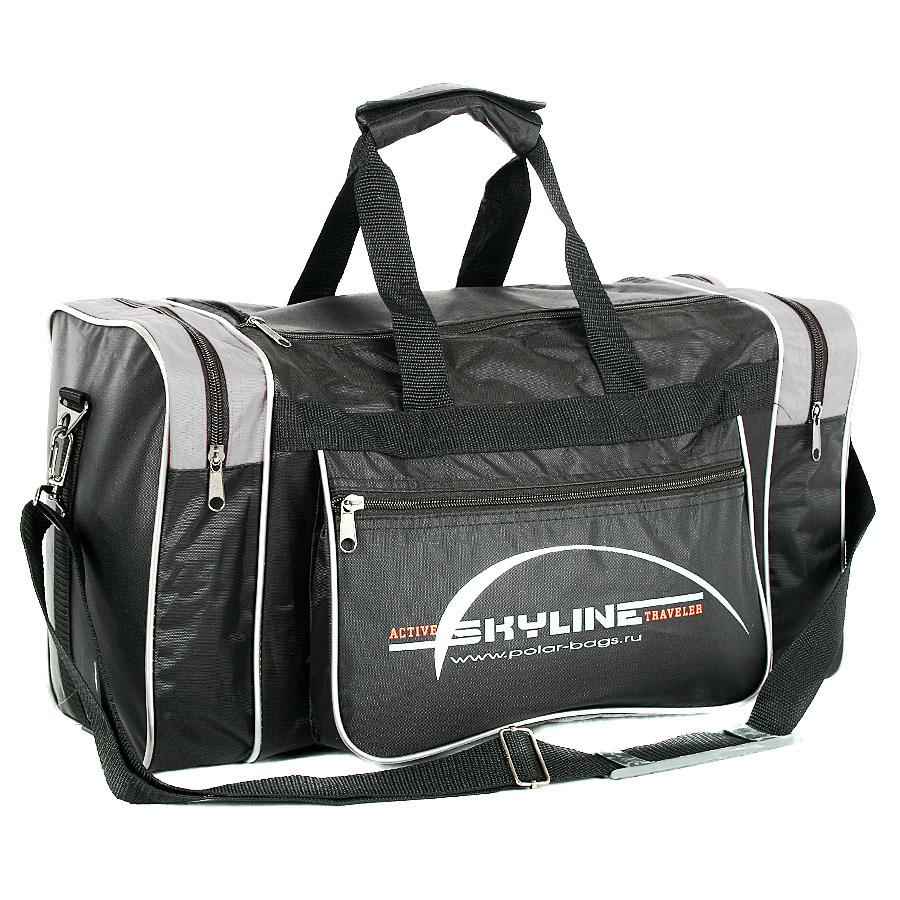 Спортивная сумка Polar Джонсон Нейлон 6009с черно-белая
