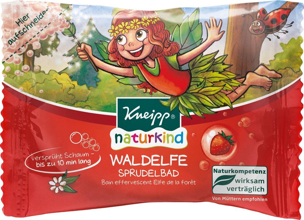 Купить Таблетка шипучая детская для ванн Kneipp Лесная фея - с ароматом клубники, 80 г, Детская соль для ванной