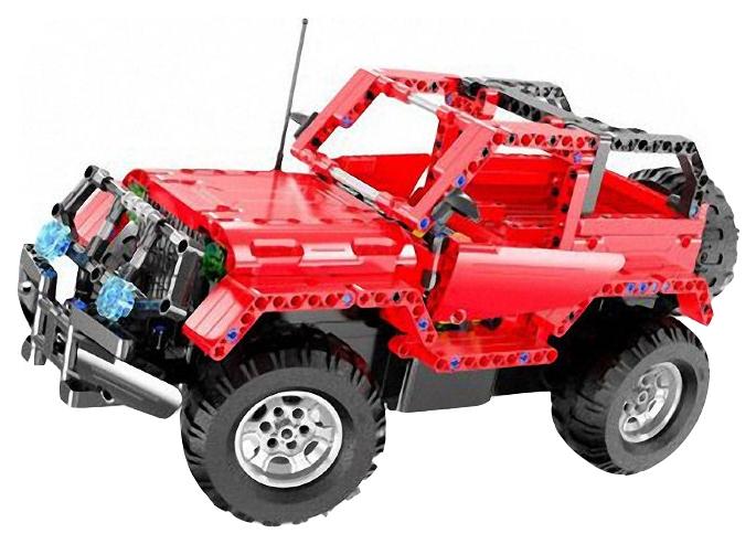 Радиоуправляемая машинка-конструктор Double Eagle Technic 2 в 1 Джип Красный