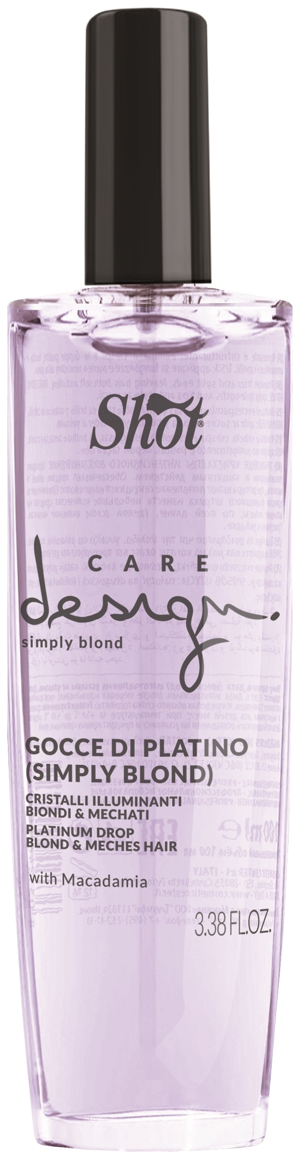 Сыворотка для волос Shot Care Design Платиновые