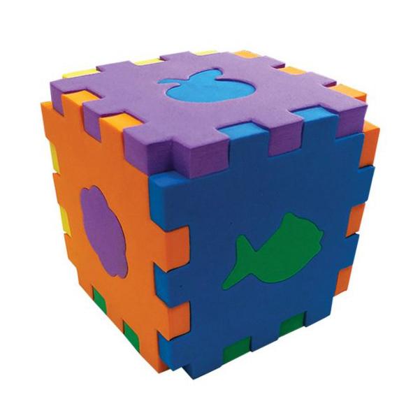 картинка MALAMALAMA Кубик-сортер Первые игрушки EF27084 от магазина Bebikam.ru
