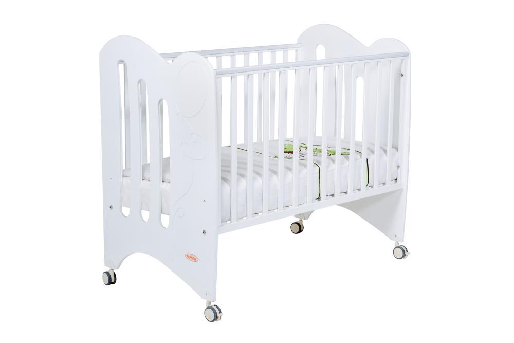 Купить Papaloni кровать luna 120х60 белая,