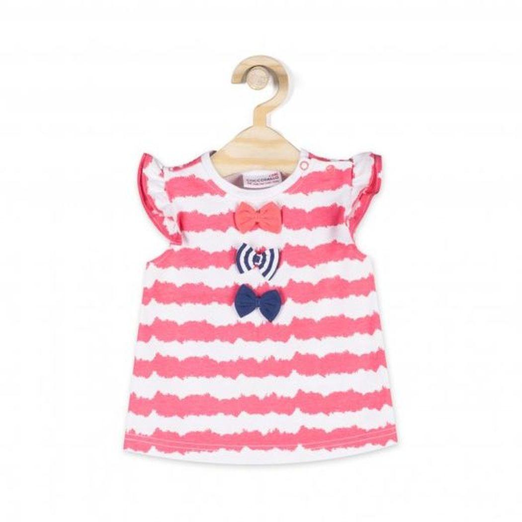 Купить L18143201COR, Футболка для девочек COCCODRILLO р.68, Детские футболки, топы