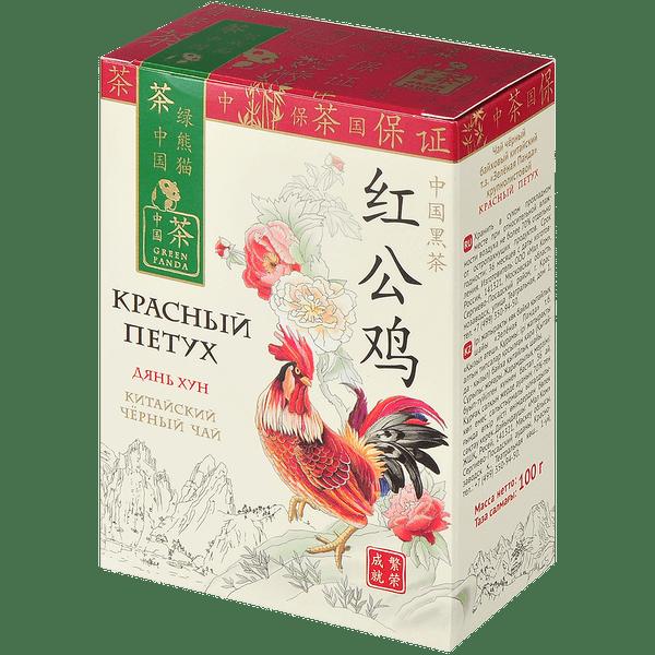 Чай Зеленая Панда Красный Петух черный байховый китайский крупнолистовой Дянь Хун 100г
