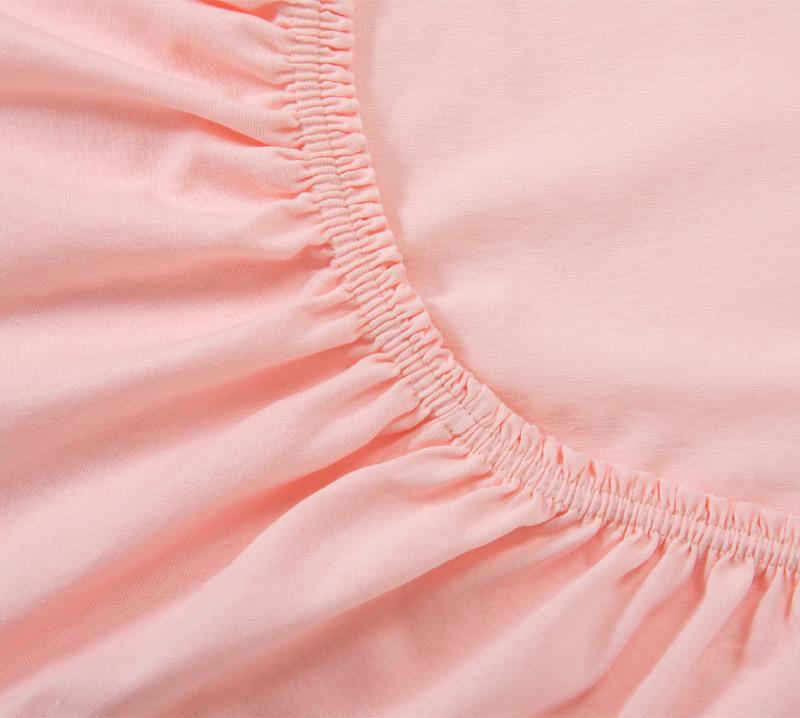 Простыня Ricotio трикотажная на резинке 180х200х20, цвет розовый фото
