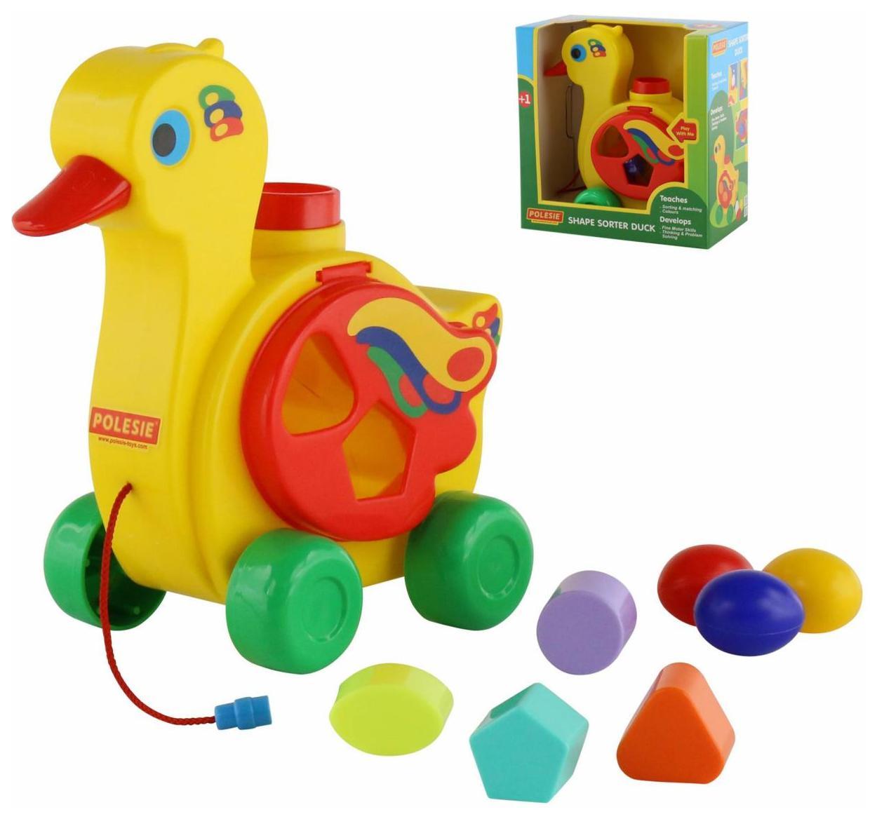 Развивающая игрушка Полесье Уточка несушка в коробке
