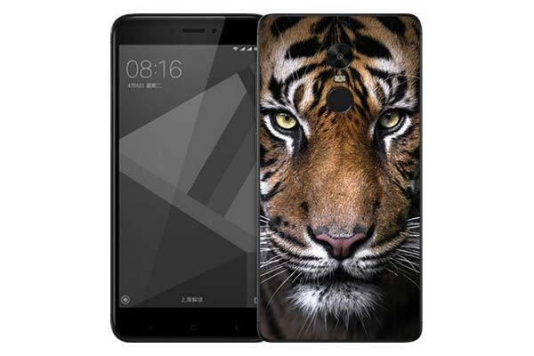 Чехол Gosso Cases для Xiaomi Redmi Note 4X «Тигр»