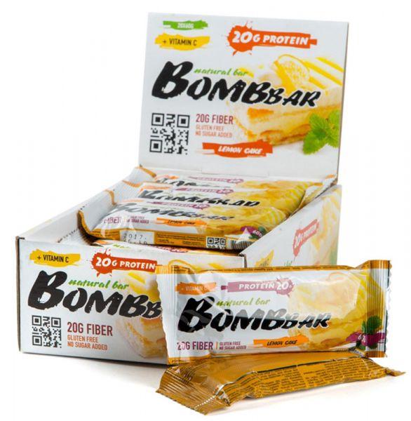 Батончик протеиновый Bombbar (коробка 20 шт.), Лимонный