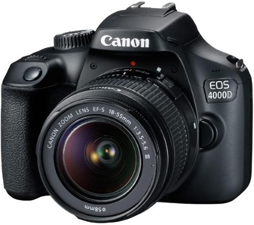 Зеркальный фотоаппарат Canon EOS 4000D EF-S 18-55 III+сумка+SD16GB (Travel Kit Black) фото