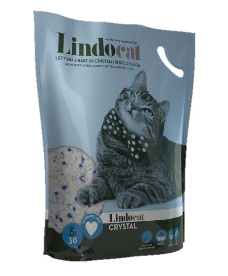 Наполнитель для кошачьего туалета Lindocat Crystal, впитывающий силикагель, 5л