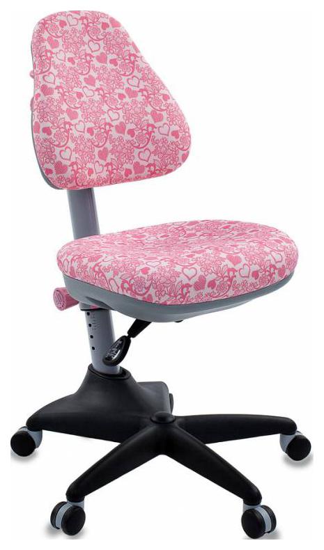 Купить Кресло компьютерное Бюрократ KD-2/PK/HEARTS-PK розовый сердца Hearts-Pk, Детские стульчики