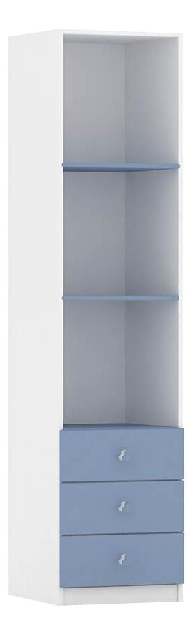Шкаф детский Фея с ящиками белый с синим 0001071.17