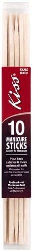 Палочки для маникюра KISS Береза, 10 шт, BOS11