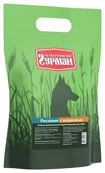 Каша для собак Четвероногий Гурман Рисовая, с морковью, 1кг фото