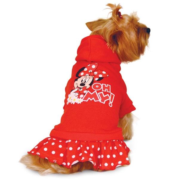 Толстовка для собак Triol размер L женский, красный, длина спины 35 см фото