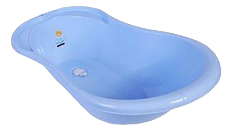 Купить Ванночка пластиковая Plastic Republic Plastic Centre Ангел со сливом и термометром голубая, Ванночки для купания