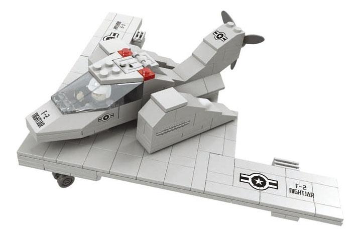 Конструктор пластиковый Ausini Армия - Самолёт-невидимка F-2 229 деталей