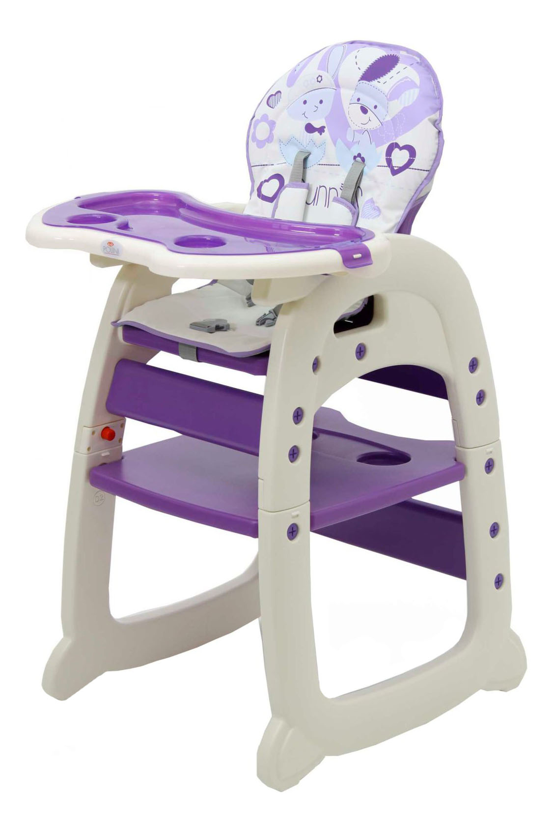 Купить Стульчик для кормления Тополь Polini 460 фиолетовый, Стульчики для кормления