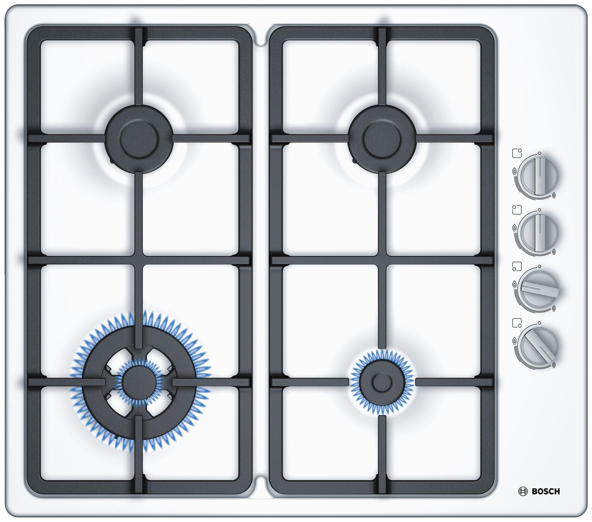 Встраиваемая варочная панель газовая Bosch PBH6C2B90R White