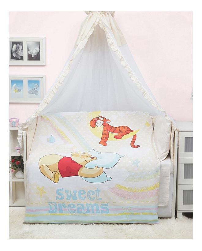 Купить Мона Лиза 5 предметов Винни на радуге, Комплект детского постельного белья MONA LIZA Винни на радуге 5 предметов, Комплекты детского постельного белья