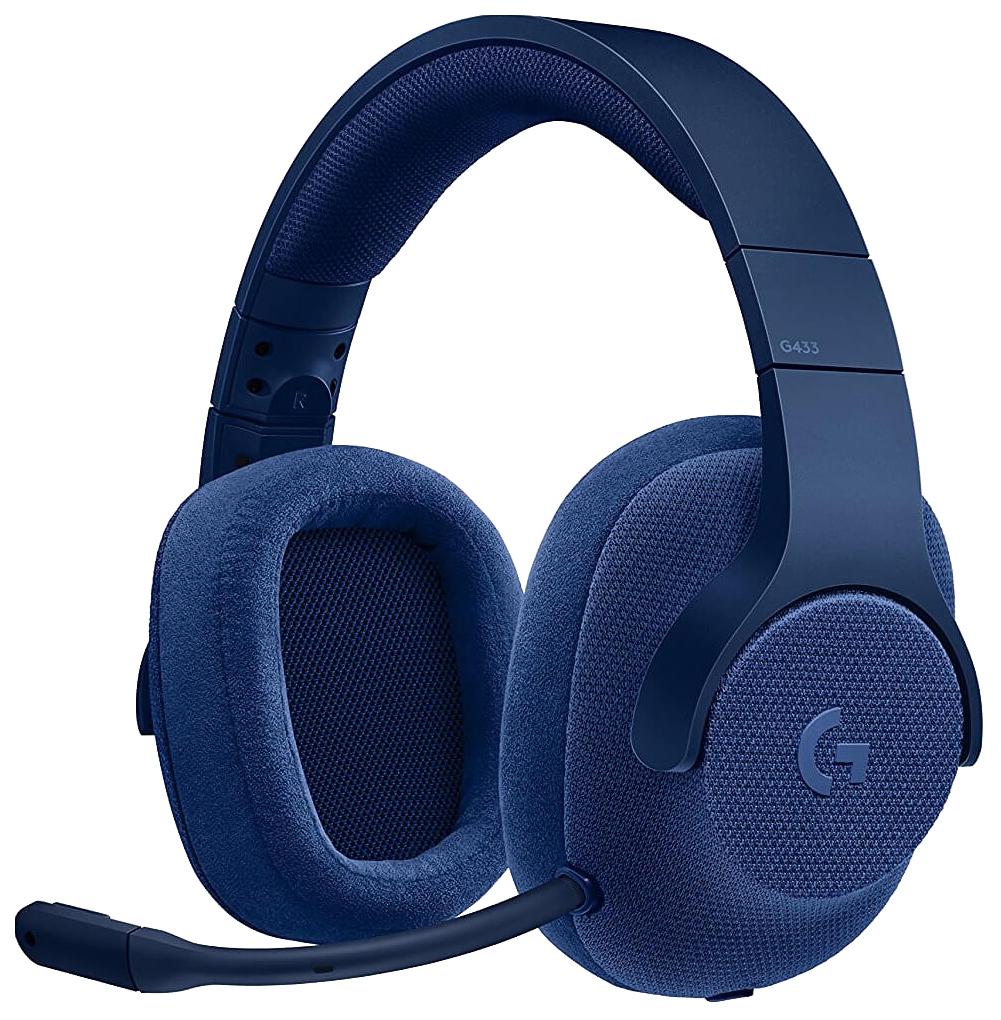 Игровые наушники Logitech G433 7.1 Royal Blue  - купить со скидкой