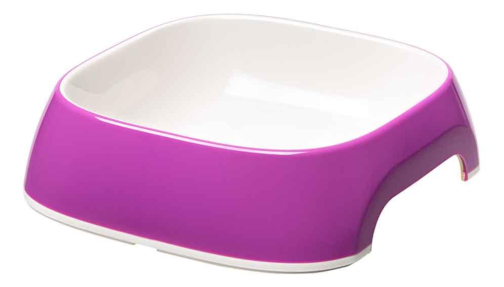 Одинарная миска для кошек и собак Ferplast, пластик, резина, фиолетовый, 0.2 л фото