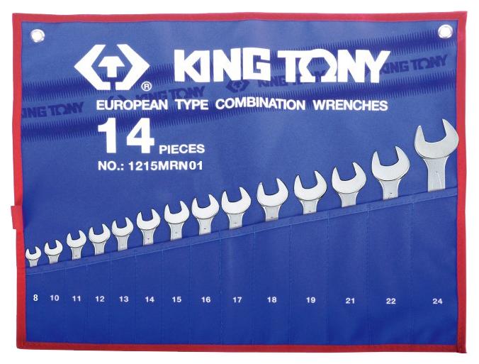 Набор комбинированных ключей KING TONY 8 24