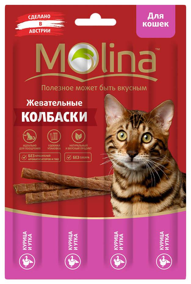 Лакомство для кошек Molina, курица, утка, 1шт, 0,02кг