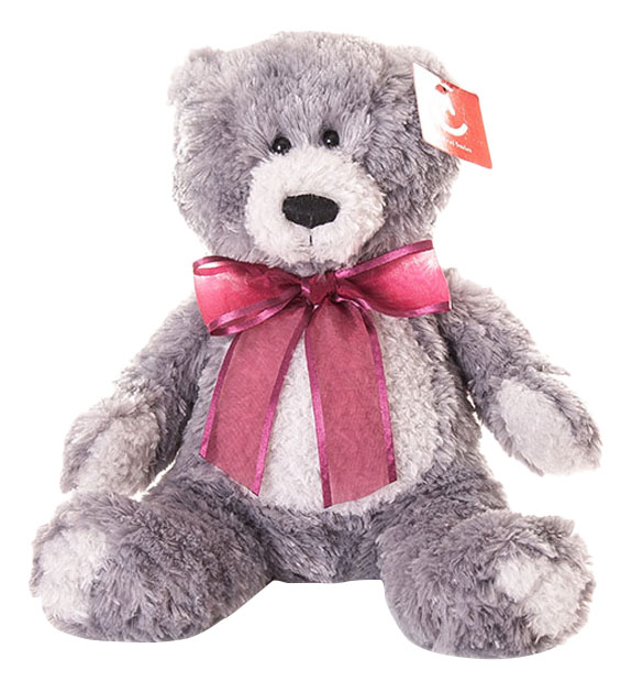 Купить Медведь серый 20 см, Мягкая игрушка Aurora 15-328 Медведь Серый, 20 см, Мягкие игрушки животные