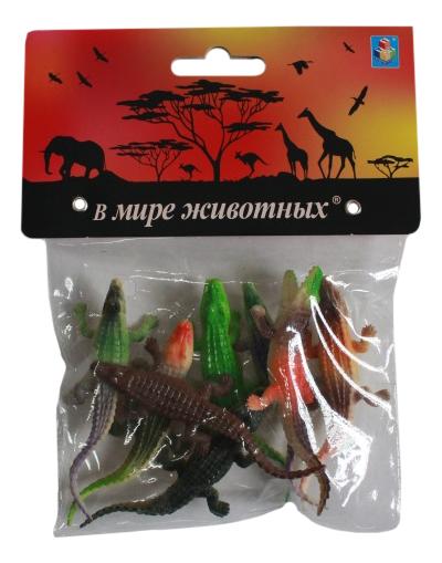 Игровой набор животных 1TOY В мире животных Крокодилы т10497 фото