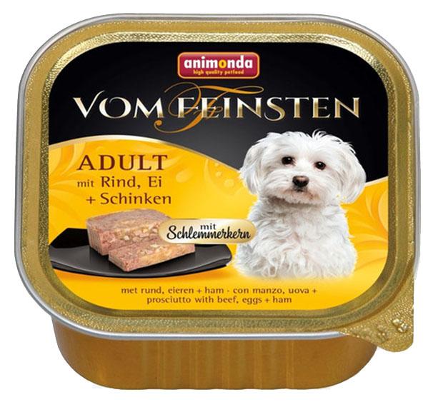 Консервы для собак Animonda Vom Feinsten Adult, курица, йогурт, овсянка, 32шт, 150г фото