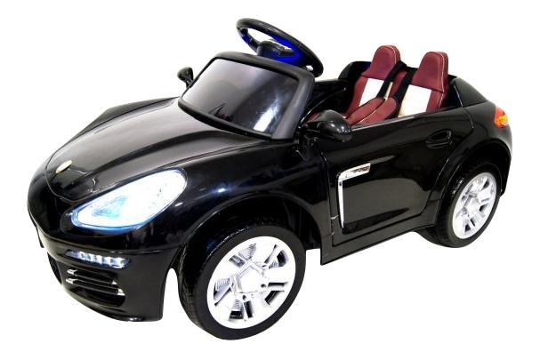 Электромобиль Porsche черный RIVERTOYS