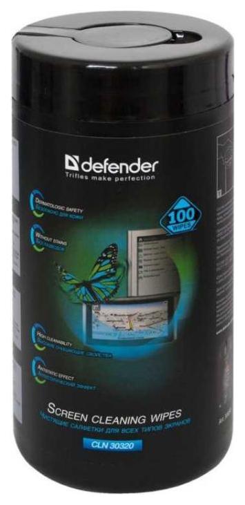 Салфетки для экранов Defender Optima CLN 30320