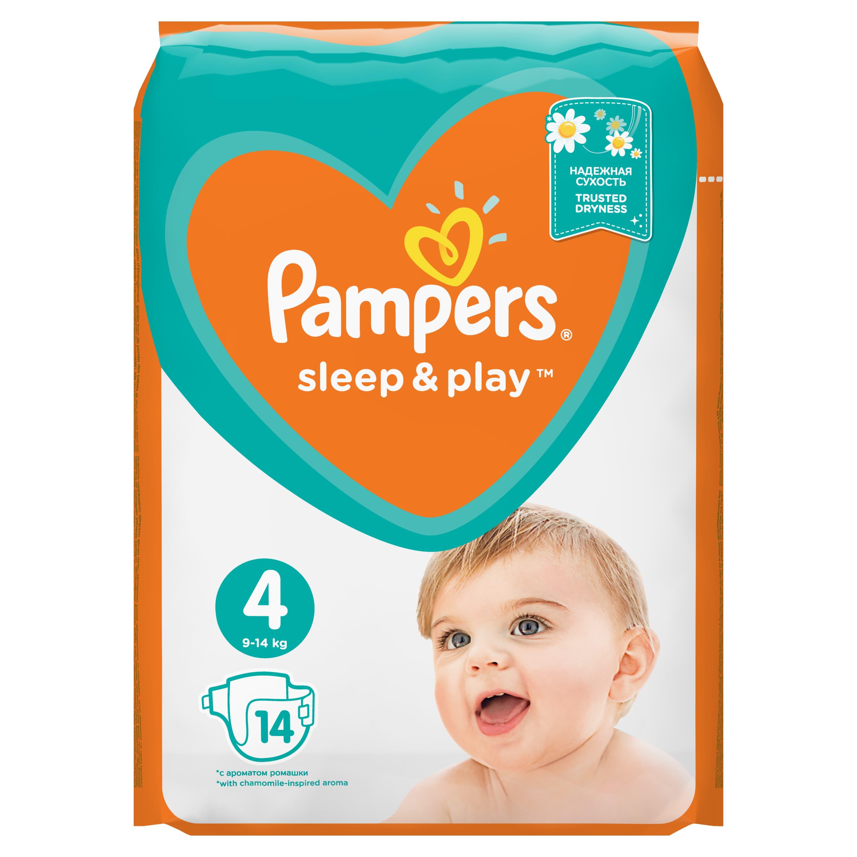 Купить PAMPERS Подгузники Sleep & Play Maxi (9-14 кг) Упаковка 14, Подгузники Pampers Sleep & Play Maxi (9-14 кг) 14 шт.