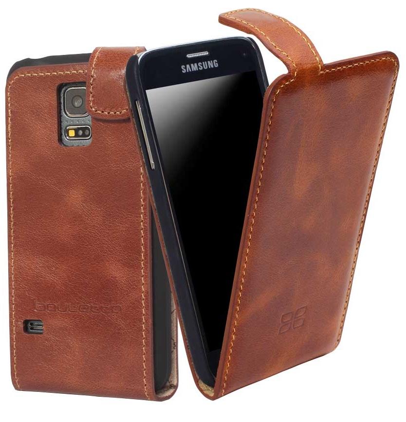 Чехол кожаный Bouletta стандартный флип для Samsung Galaxy S5 Mini, Коричневый-RST2